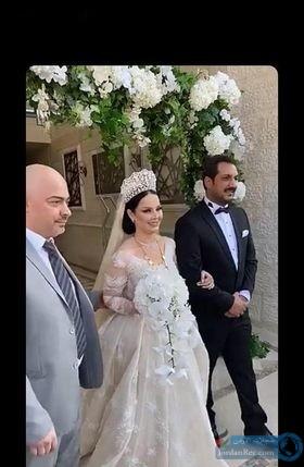 بالصور حفل زفاف السوبر ستار ديانا كرزون ومعاذ العمري