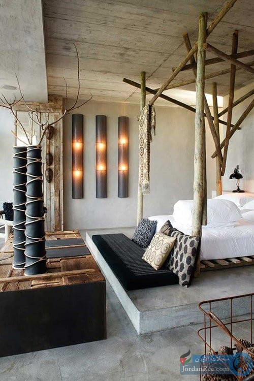 غرفة من جذع الشجر