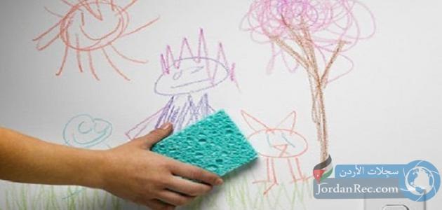 كيفية إزالة أثر قلم الرصاص والألوان عن الجدران